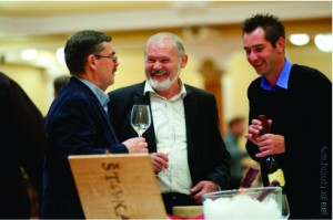 A toast at Sparkling Wine festival in Ljubljana