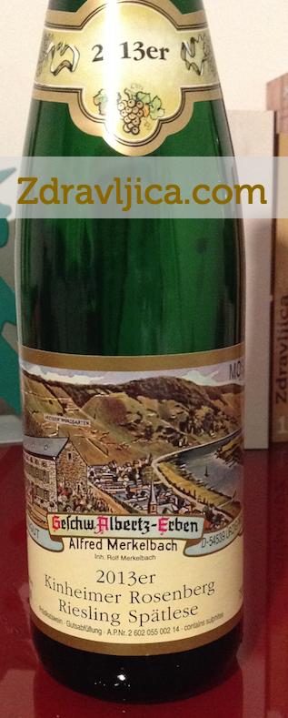 Vino-Slovenia-Degustazione-kinheimer-rosenberg-riesling-spatlese-Merkelbach-2013-Mosella-Germania